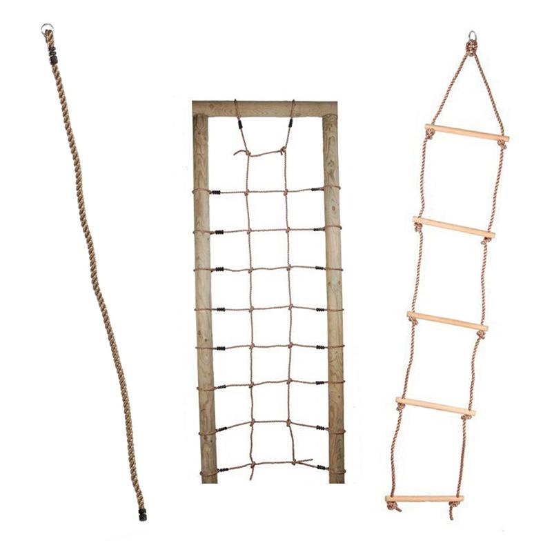 Mászókötelek, kötéllétrák, hálók