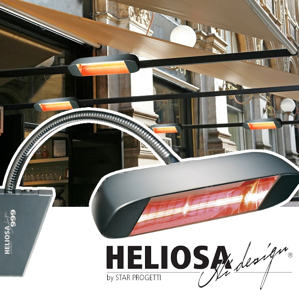 Heliosa infravörös teraszfűtés