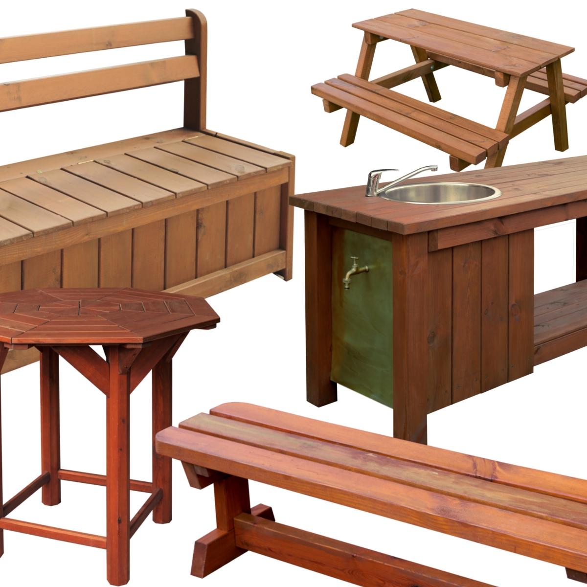 Fenyő kerti bútor