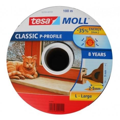 Tesa - Ajtó és ablaktömítő szalag P-profil, barna