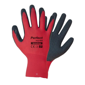 Kesztyű  PERFECT GRIP RED latex 9""