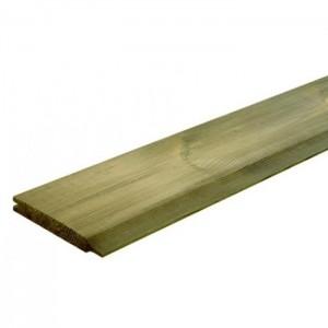 Deszka - nútolt, impregnált, gyalult fenyő  1,9 x 14,5 x 300 cm