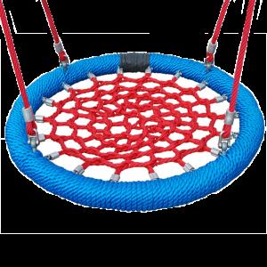 Közterületi - Fészekhinta 120 cm piros-kék