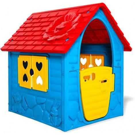 Játszóház – kék, piros tetővel