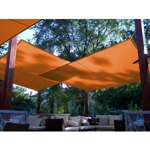 Napvitorla - Négyszög 4 x 4 m PRÉMIUM, narancs