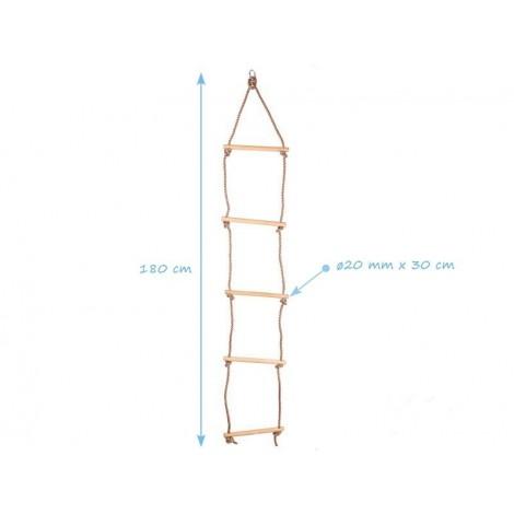 Kötéllétra fa fokkal ECO 5 fokos 1,8 m