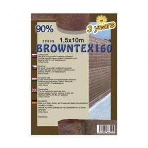 Árnyékoló háló BROWNTEX 1x10 m barna  90%
