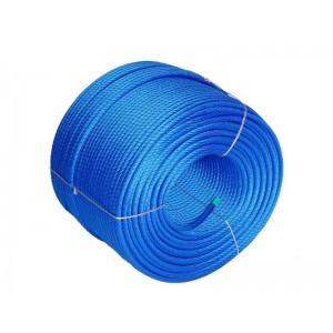 Közterületi - Acélbetétes kötél 16 mm kék