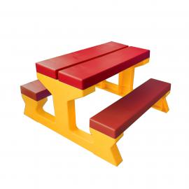 Piknik gyermek szett műanyag  piros-sárga