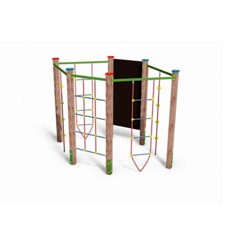 Közterületi játszótér - Hatszögletű mászóka