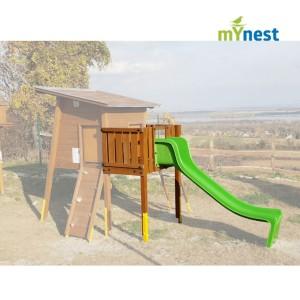 Közterületi játszótér - mYnest - csúszdás balkon modul - közterületi