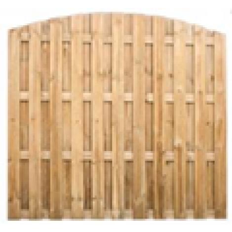 Kerítés - Multi íves 8 mm lamellával 180x180 cm