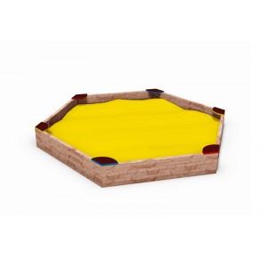 Közterületi játszótér - Hatszögletű homokozó