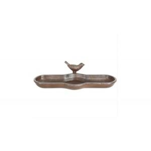 Madáretető -  Öntöttvas etető-itató madár díszítéssel