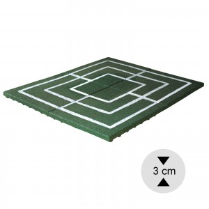Gumilap malom játék ReFlex - 3x100x100 cm zöld