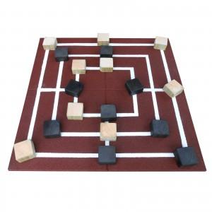 Gumilap malom játék ReFlex - 4x100x100 cm vörös