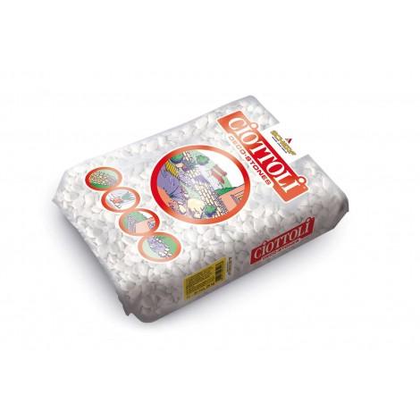 Díszkavics márvány, carrarai fehér, 16-25 mm, (25 kg/zsák)