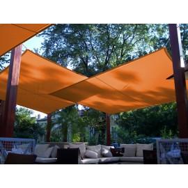 Napvitorla - Háromszög 7 x 7 x 7 m PRÉMIUM, narancs