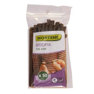 BRIDFIX gyorskötöző 14cm barna 50 db/ csomag
