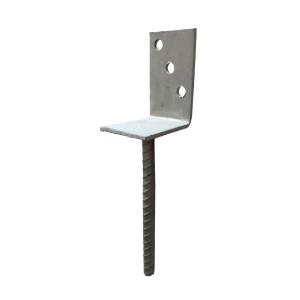 Betonozható oszloptartó L alakú
