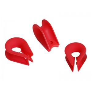 Kötélzáró - Csepp nyitott piros