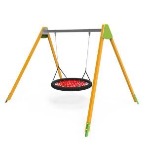 Közterületi játszótér - Hintaállvány fémgerincű 115 cm-es fészekhintával