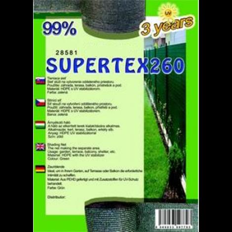 Árnyékoló háló - SUPERTEX230 1,8 x 10 m 99%