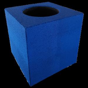 2 az 1-ben gumi kaspó kocka M 50x50x50 cm színes