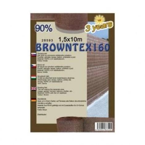 Árnyékoló háló BROWNTEX 1x50 m barna  90%