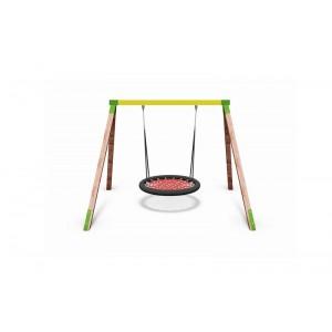Közterületi játszótér - Hintaállvány 115 cm-es fészekhintával