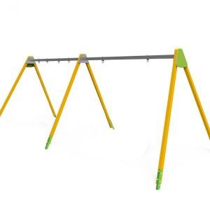 Közterületi játszótér - Háromállású EXTRA hintaállvány fémgerincű (ülőke nélkül)