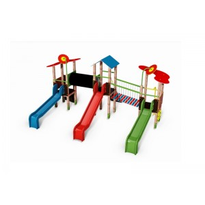 Közterületi játszótér - Háromtornyú vár TRIMONT