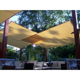 Napvitorla - Háromszög 5 x 5 x 5 m PRÉMIUM, homok