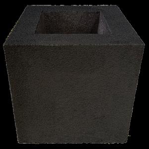 2 az 1-ben gumi kaspó kocka M 50x50x50 cm natúr