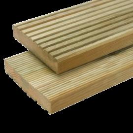 Deszka - Teraszdeszka két oldalon bordázott 2,5 x 14,0 x 360 cm