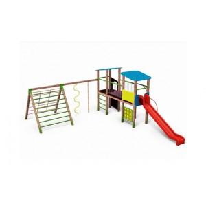 Közterületi játszótér - Kéttornyú vár mászókával FUSIO