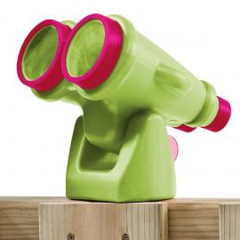 Duplacsövű távcső, almazöld/lila