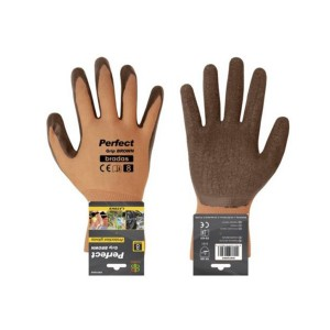 Kesztyű PERFECT GRIP BROWN latex 8""
