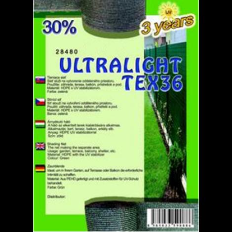 Árnyékoló háló - ULTRALIGHTTEX36 2 x 50 m 30%
